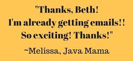 Testimonial- Melissa- Java Mama- Corpus Christi Moms Blog
