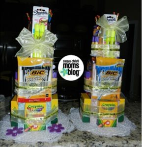 End of School Year Gift Idea for Teachers- School Supplies Cake