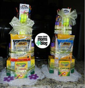 End of School Year Gift Idea for Teachers- School Supplies Cake