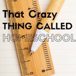 That Crazy Thing Called Homeschool