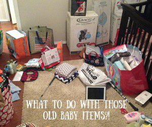 What to do with those old baby items