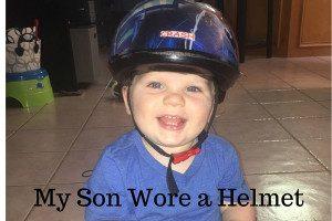 My Son Wore a Bike Helmet Collage- Corpus Christi Moms Blog
