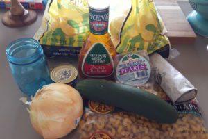 Zesty Italian Pasta Salad Ingredients- Corpus Christi Moms Blog