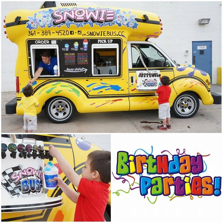 Snowie Bus of Corpus Christi- Birthday Party Ideas