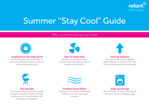 Reliant Summer Stay Cool Guide 2016- Corpus Christi Moms Blog