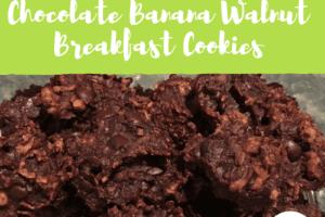 Quick, Easy {Allergy Friendly} Chocolate Banana Walnut Breakfast Cookie Recipe- Corpus Christi Moms Blog
