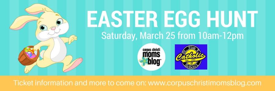 Easter Egg Hunt- Corpus Christi Moms Blog with St. Pius X Catholic School