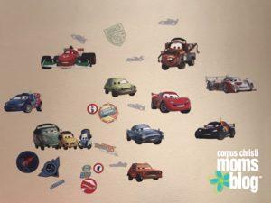 Blaze- A Toddler Craze- Cars Stickers on the Wall- Corpus Christi Moms Blog