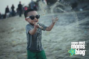 Toddler Playing- Beach- Corpus Christi Moms Blog