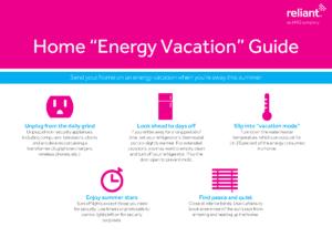 Reliant Home Energy Vacation Guide- Corpus Christi Moms Blog