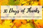 30 Days of Thanks- Cultivating Gratitude Throughout November- Corpus Christi Moms Blog