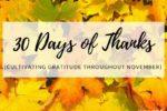 30 Days of Thanks- Cultivating Gratitude Throughout November- Corpus Christi Moms Blog