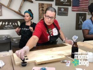 Board and Brush- Staining- Corpus Christi Moms Blog