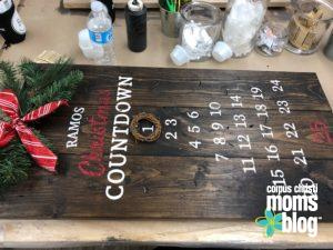 Board and Brush- Christmas Countdown- Corpus Christi Moms Blog