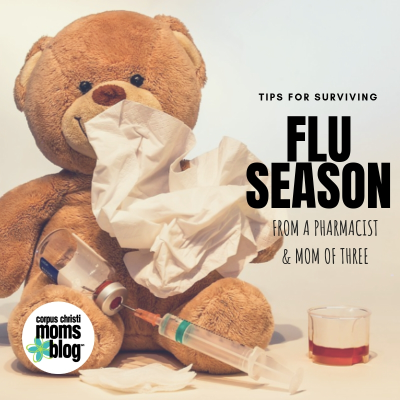 Tips for Surviving Flu Season - from a Pharmacist and Mom of 3!