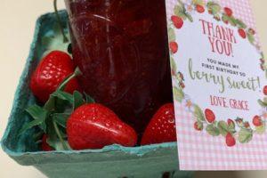 Homemade Strawberry Jam Party Favor : Coastal Bend Moms