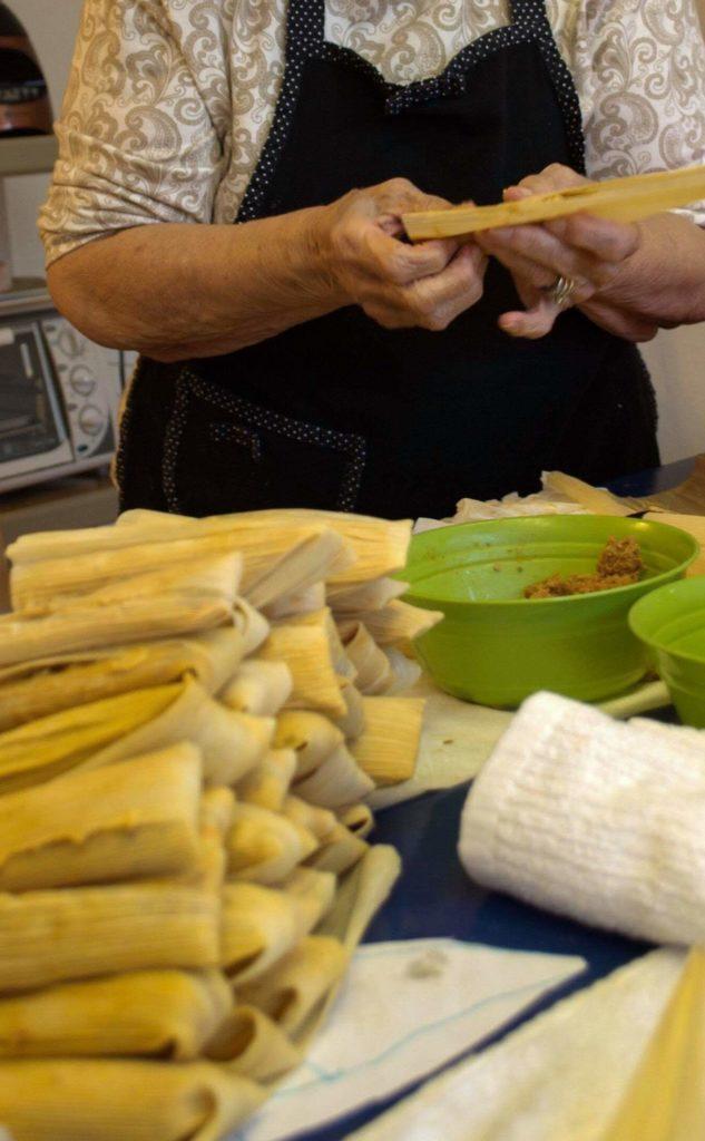 tamale making : hispanic heritage month : Mexican Food