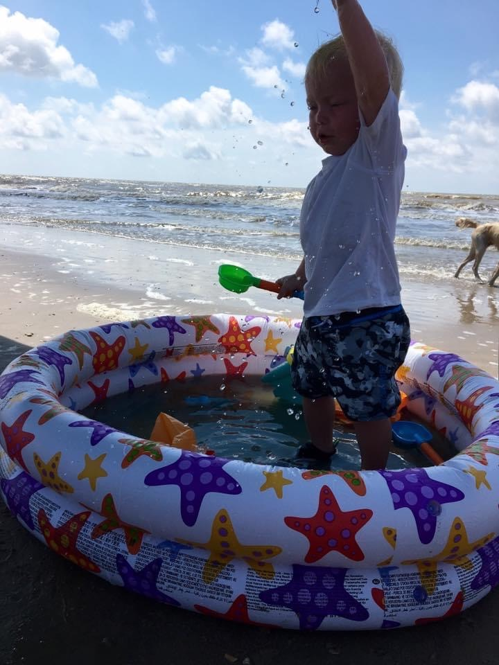 Baby Pool | Beach Trip | Coastal Bend Mom Collective