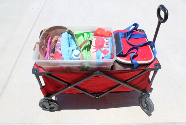 Packed Wagon for the Beach | Coastal Bend Mom Collective | Corpus Christi