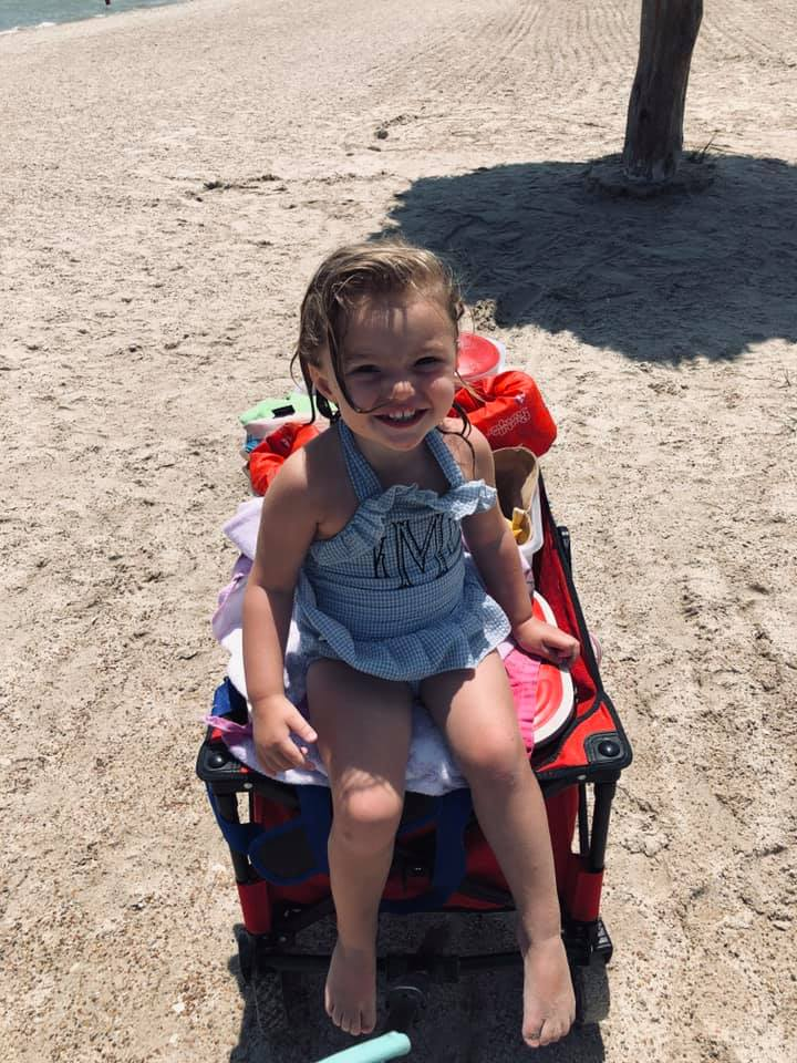 Wagon Cart | Beach Trip | Coastal Bend Mom Collective