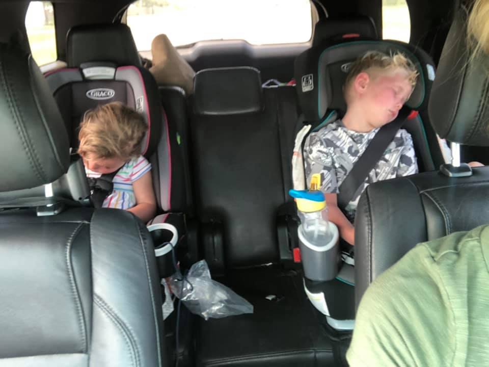 Sleepy Post Beach Kids | Coastal Bend Mom Collective