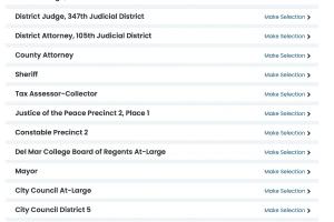 Local Ballot - Nueces County - Vote411.org