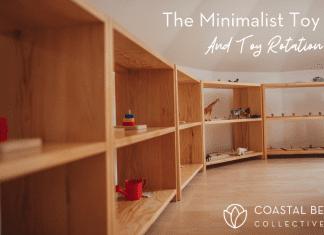 minimalist toy shelf