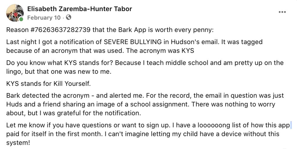 Bark Screenshot : Coastal Bend Mom Collective