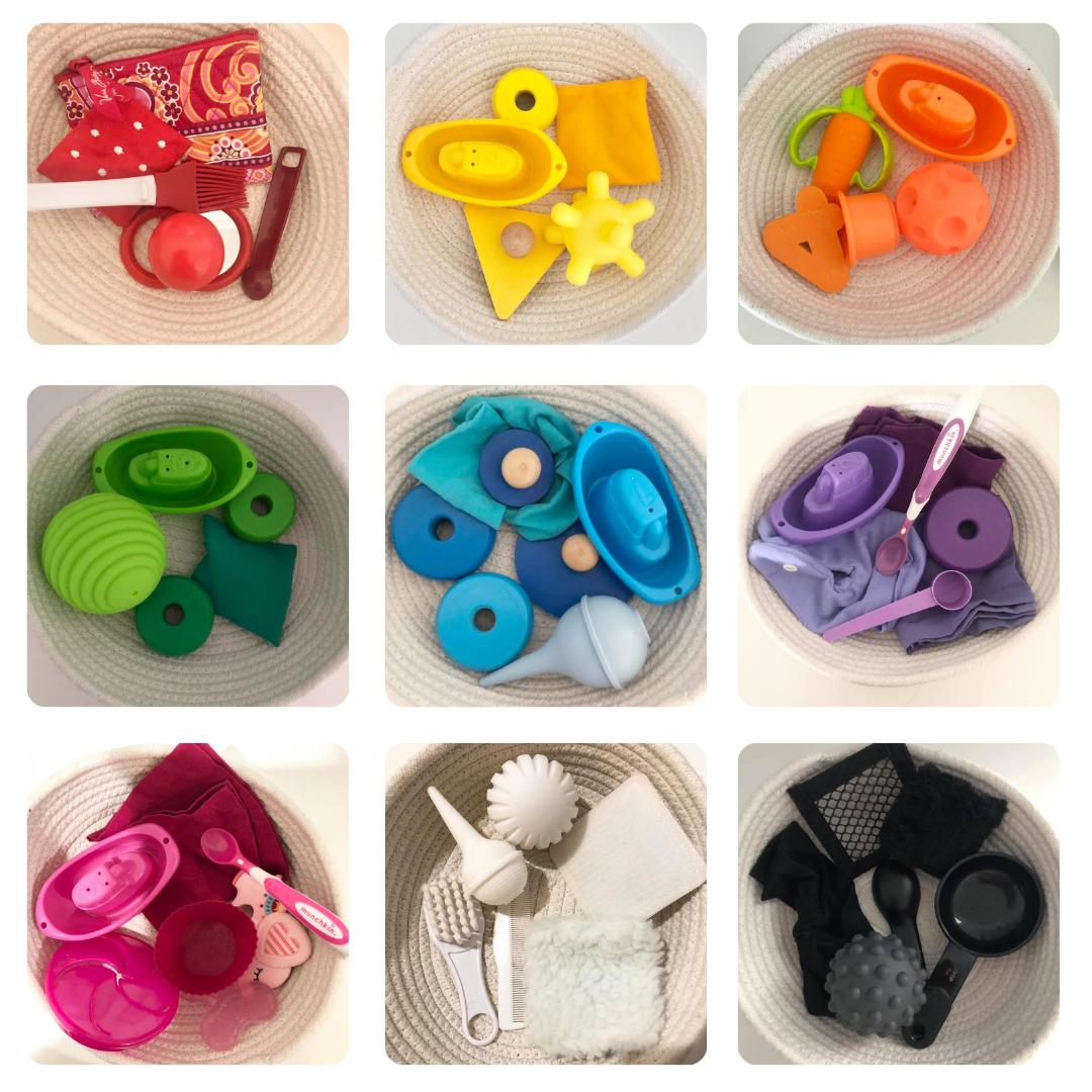 Color Treasure Baskets