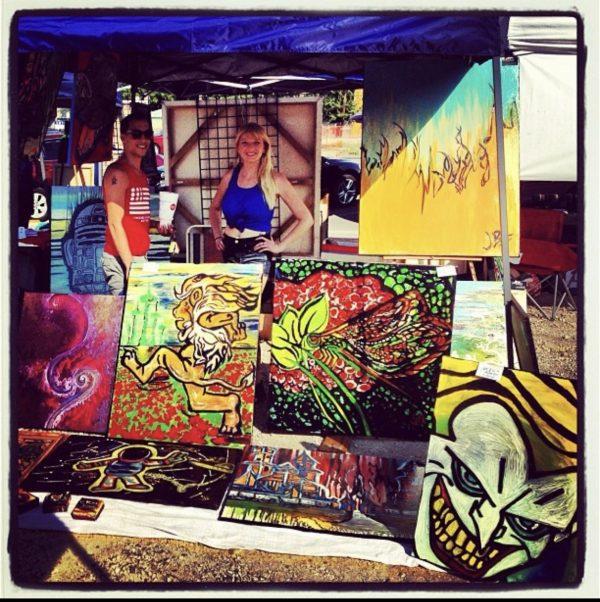 Jillian in Austin, first art show