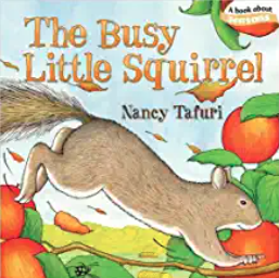 The Busy Little Squirrel fall board book