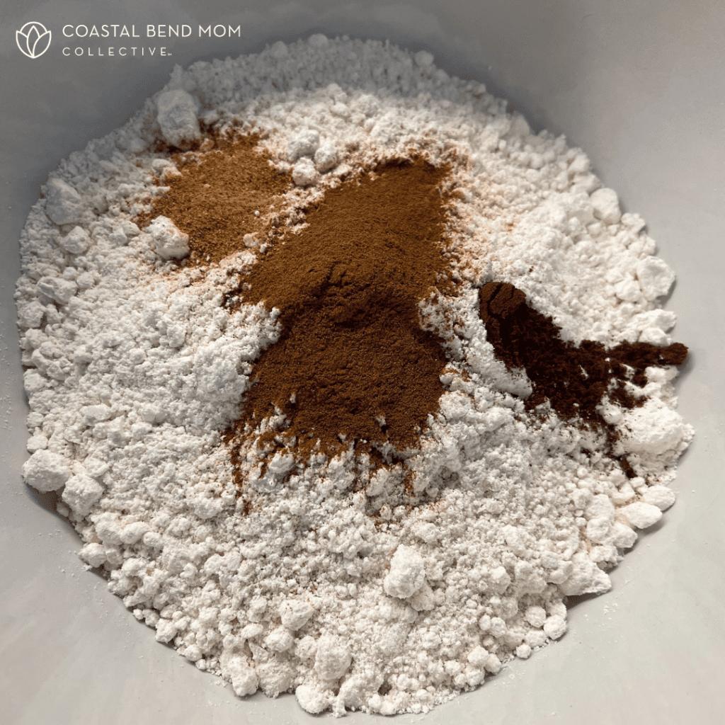 Dry Ingredients in a Bowl : Pumpkin Pancakes
